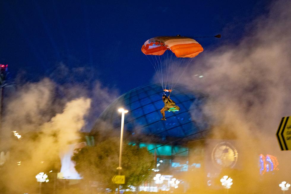Global Village skydiving Guinness World Record