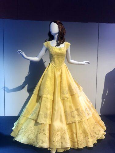 Heroes and Villians Disney costume exhibition - Belle gown