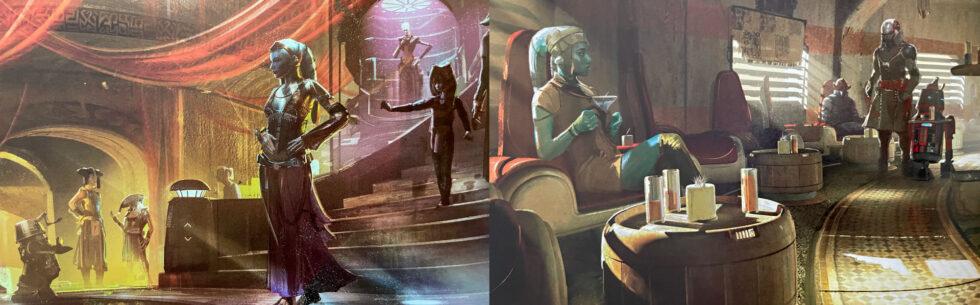 Kalikori Club atmosphere and bar at Star Wars: Galaxy's Edge.