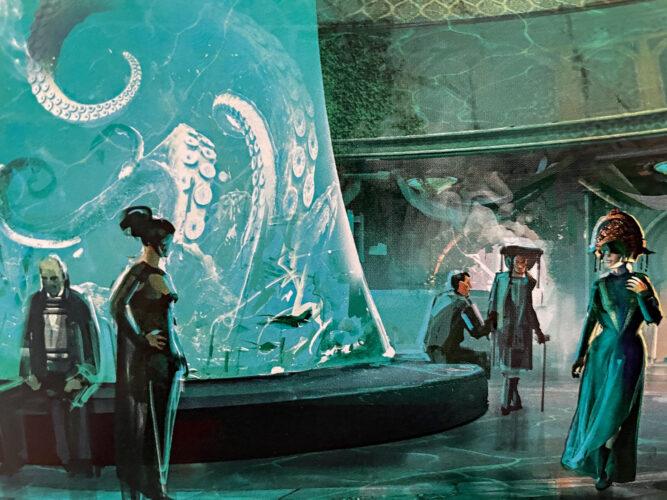 Kalikori Club foyer with large aquarium.