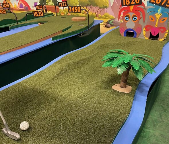 mini golf themed course view