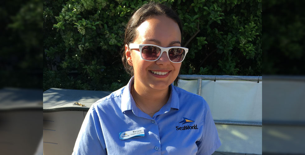 SeaWorld Employee mask-free.