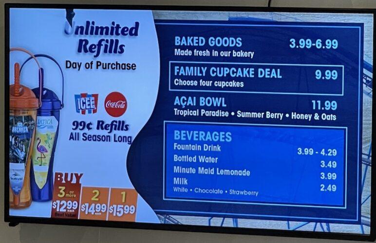 SeaWorld Coaster Coffee Co. menu 1