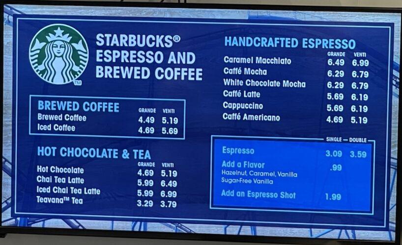 SeaWorld Coaster Coffee Co. menu 2