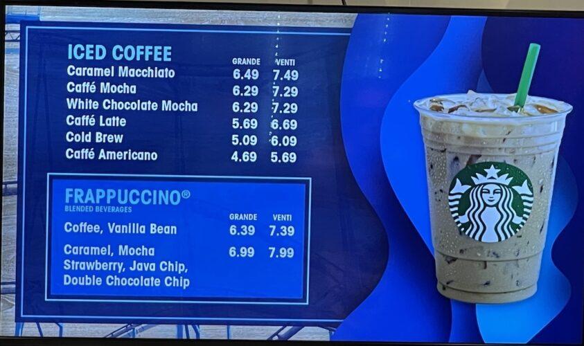 SeaWorld Coaster Coffee Co. menu 3