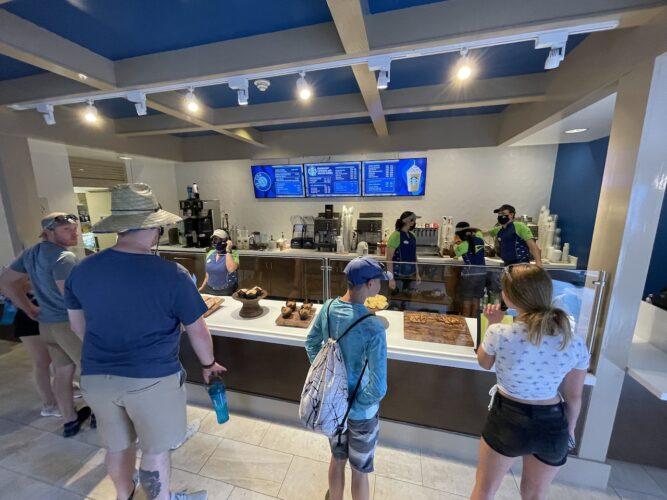SeaWorld Coaster Coffee Co. interior bakery