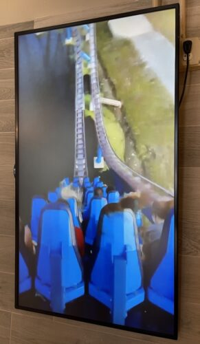 SeaWorld Coaster Coffee Co. POV video screen