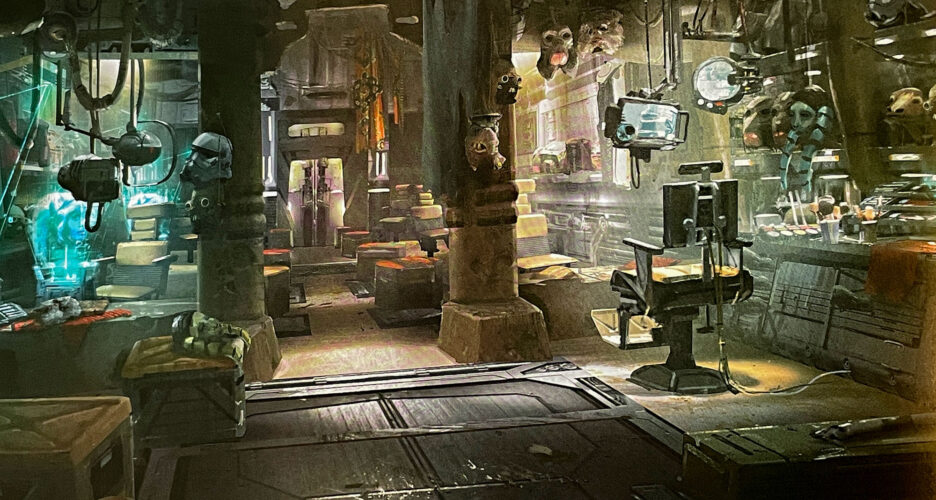 Proposed alien boutique for Star Wars: Galaxy's Edge.