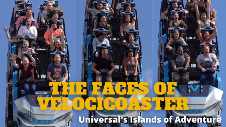 Jurassic World Velocicoaster riders faces