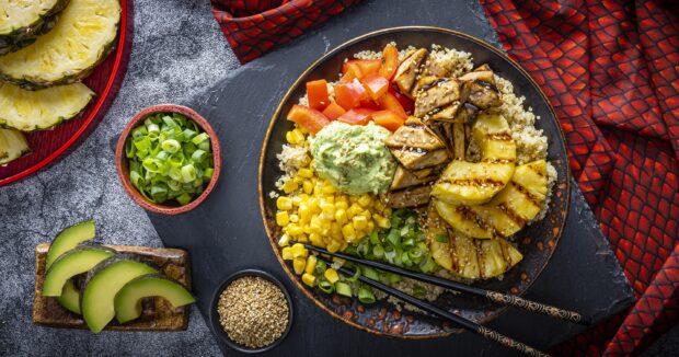 Dole Disney Princess Recipe - Dragon-Fried Semame Tofu Bowl