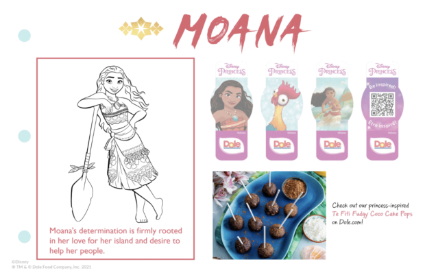Dole Disney Princess Sticker Book - Moana