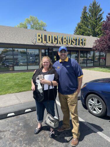 Last Blockbuster Video with store manager, Sandi Harding