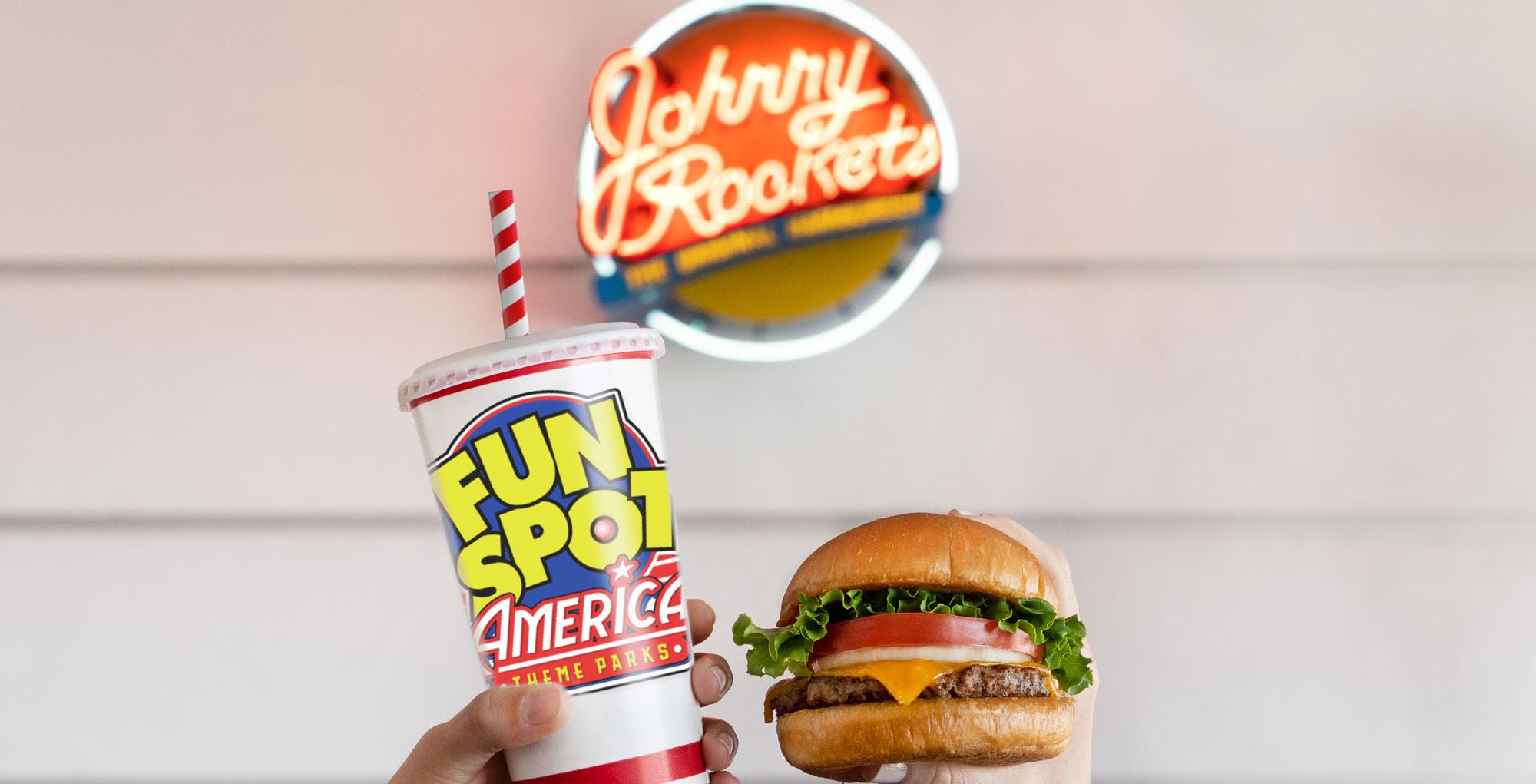 Fun Spot America and Johnny Rockets.