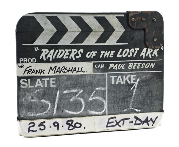 Prop Store Auction - Raiders of the Lost Ark clapperboard