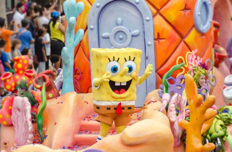 Spongebob in Universal's Superstar Parade.