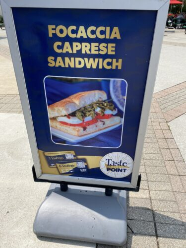 focaccia caprese sandwich