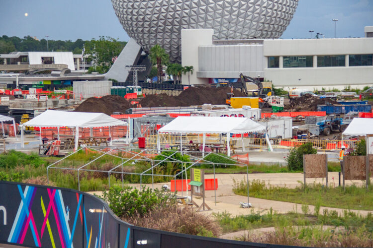 Epcot construction requires a lot of dirt.