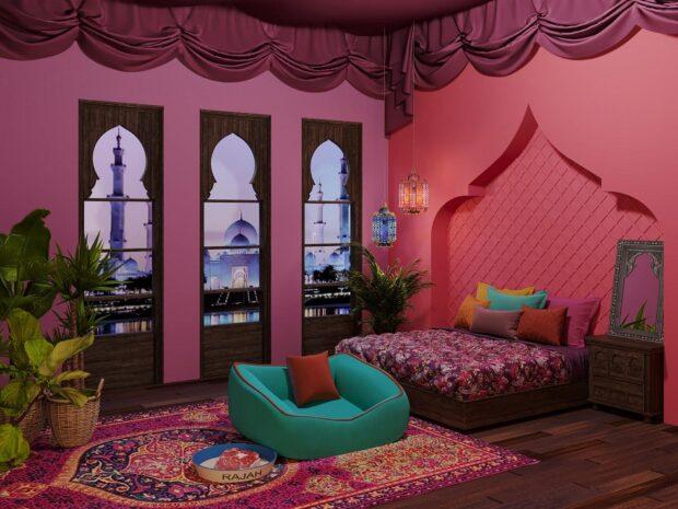 Princess Jasmine's luxurious boudoir