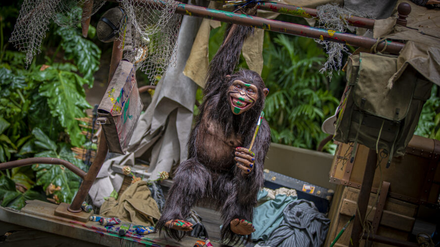 Jungle Cruise Monkey with paint