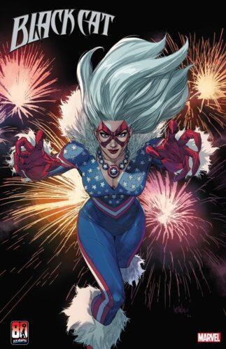 Marvel Black Cat Captain America Variant Cover