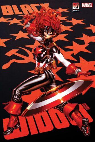Marvel Black Widow Captain America Variant Cover