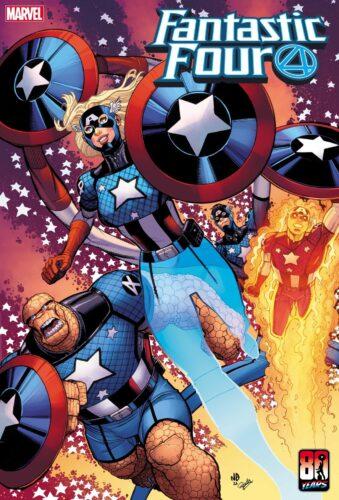 Marvel Fantastic Four Captain America Variant Cover