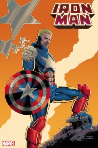 Marvel Iron Man Captain America Variant Cover