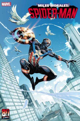 Marvel Spider-Man Captain America Variant Cover