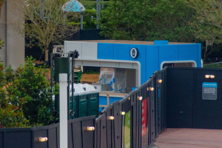 New popcorn stand seen in the Epcot construction.