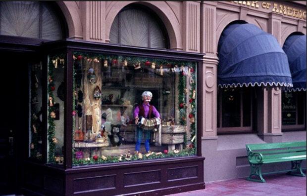 Disney Auction - Pinocchioo window display