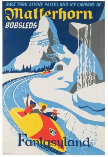 Disney Auction - Matterhorn poster