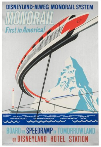 Disney Auction - Monorail poster