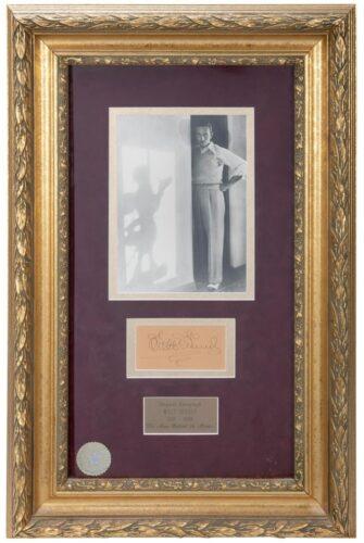 Disney Auction - Walt Disney photo and autograph