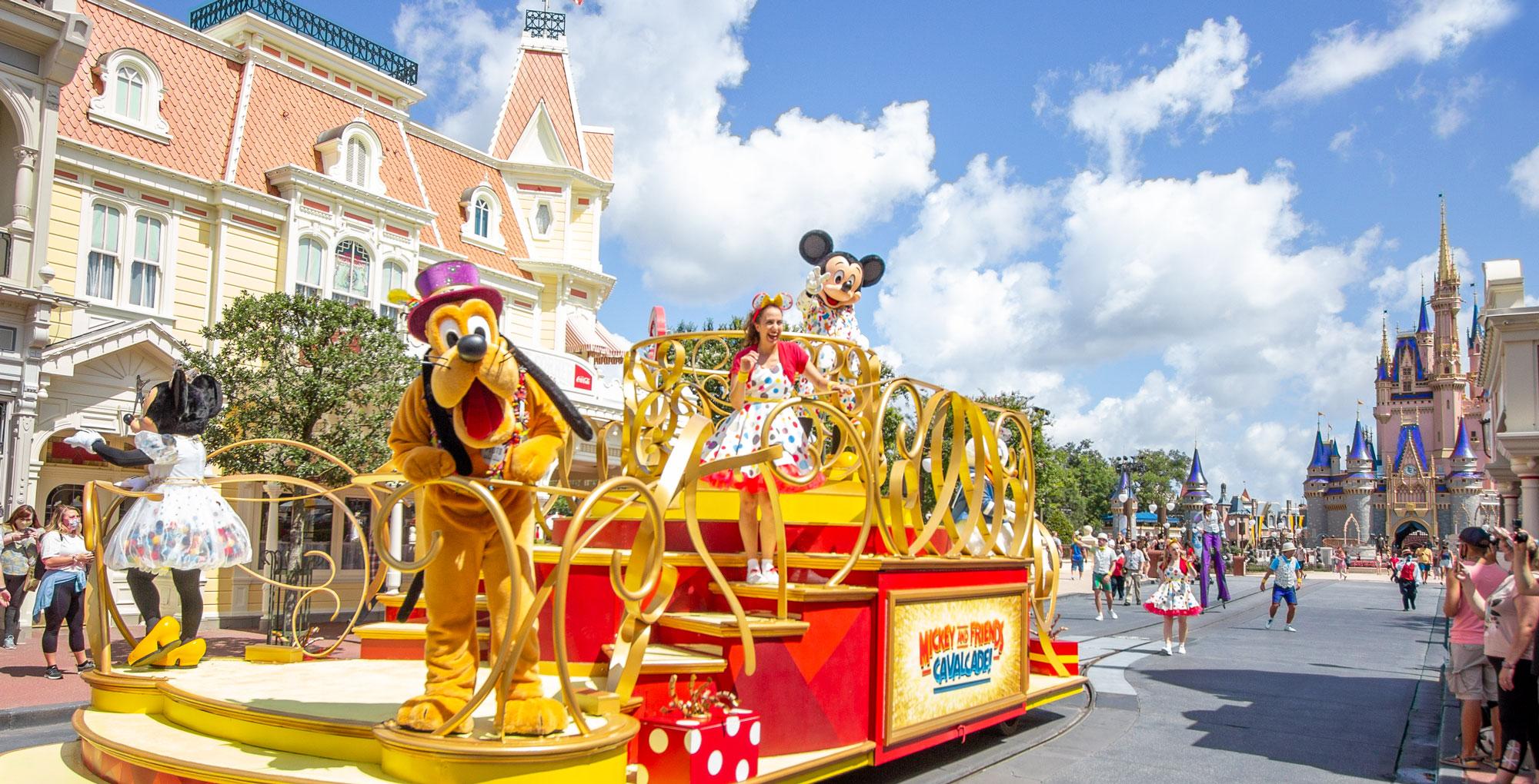 Mickey and Friends cavalcade at the Magic Kingdom.