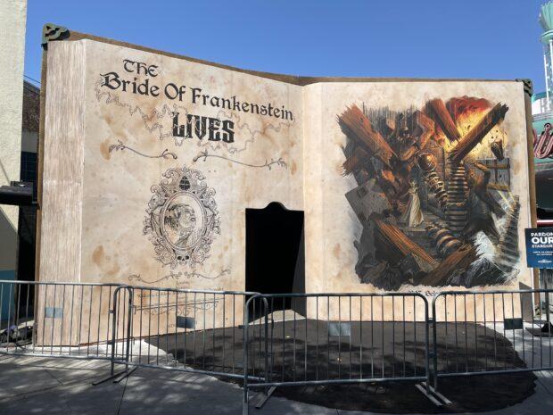 halloween horror nights hollywood sneak peek - bride of frankenstein lives