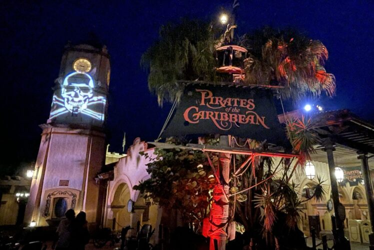 Pirates of the Caribbean exterior during Boo Bash