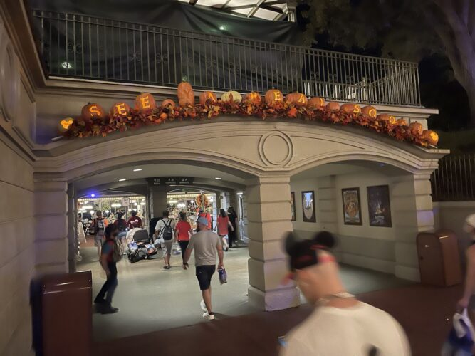 See Ya Real Soon spelled out in pumpkins.