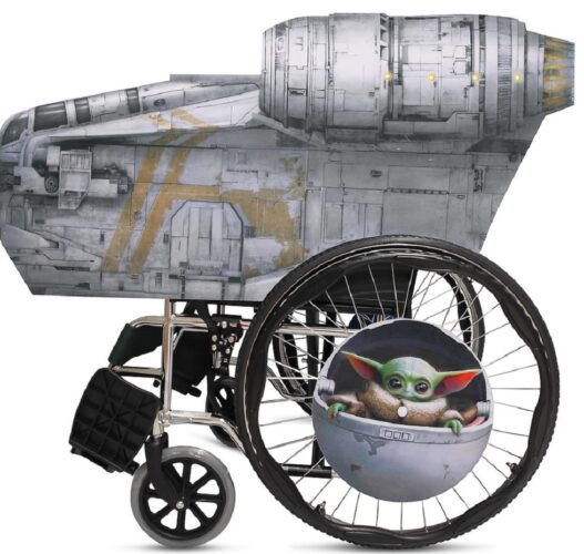 Adaptive Roleplay wheelchair cover The Mandalorian