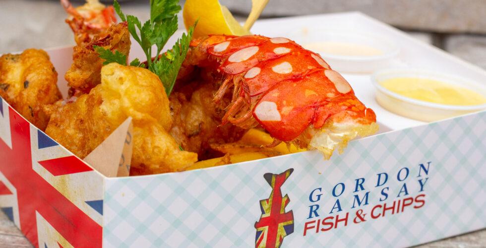 Gordan Ramsay Fish & Chips Lobster and Shrimp Combo