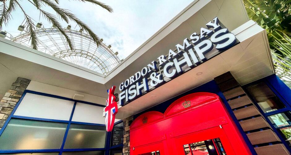 Gordan Ramsay Fish & Chips entrance.