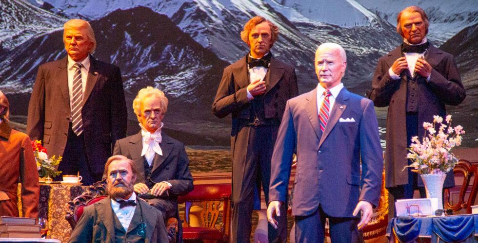 Joe Biden animatronic added to the Hall of Presidents at Walt Disney World.