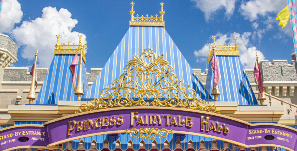 Princess Fairytale Hall adorned in new gold.