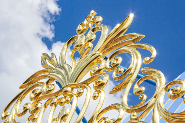 Close-up on gold work at Princess Fairytale Hall.