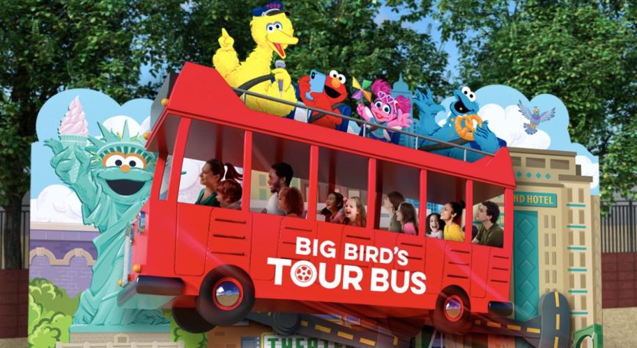 Sesame Place - Big Bird's Tour Bus