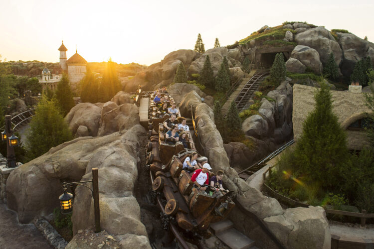 Movie-Inspired theme park ride - seven dwarfs mine train