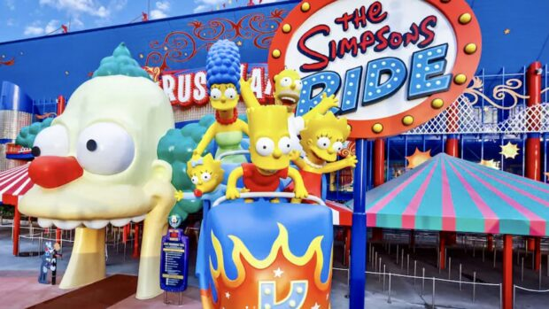 Movie-Inspired theme park rides - The Simpsons Ride