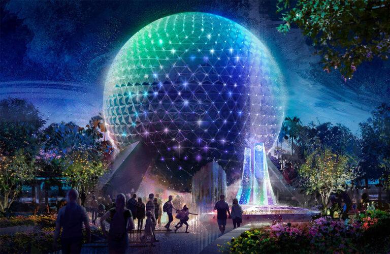 Disney concept art of new Epcot park entrance.