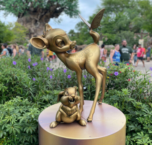 Bambi and Thumper Disney golden statues