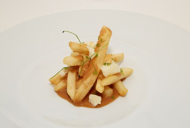 Swan and Dolphin Food and Wine Festival Beer Garden Poutine