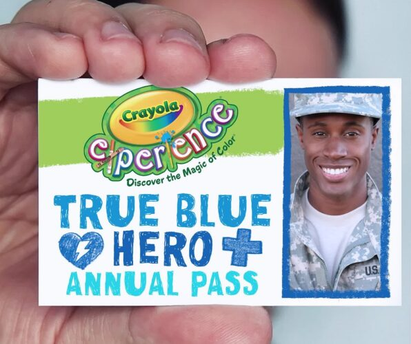 Crayola Experience True Blue Hero annual pass